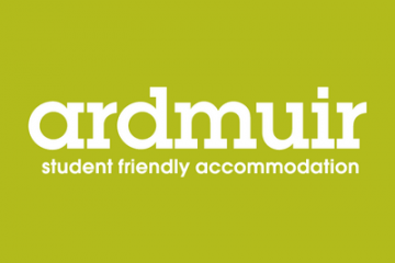 Ardmuir Student Accommodation Logo - green background with white text