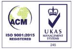 ACM ISO 9001:2015 registered logo