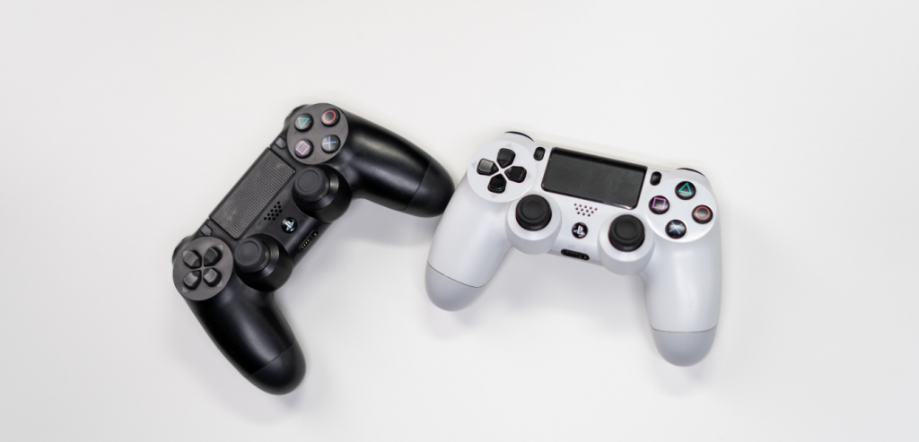 Sony Playstation Controllers to illustrate how to find a mac address on your Playstation