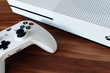 An image of a white Xbox One to show that this article mentions how to find the mac address of an Xbox One and other games consoles